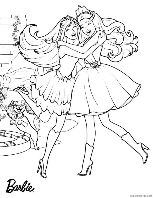 Barbie Coloring Pages Happy Barbie Princess Printable 19 19