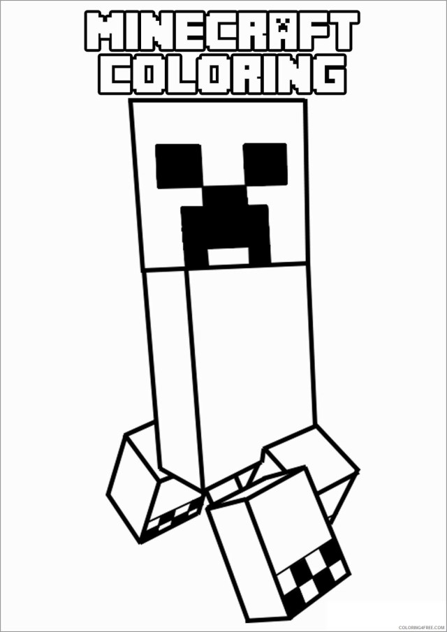 Minecraft Coloring Pages Games minecraft creeper Printable 16