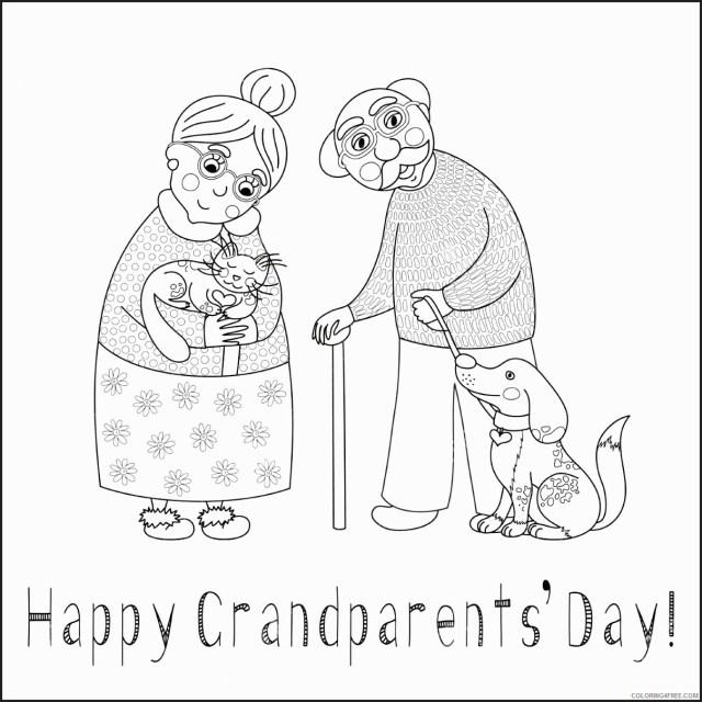 Grandparents Coloring Pages Happy Grandparents Days Printable 27
