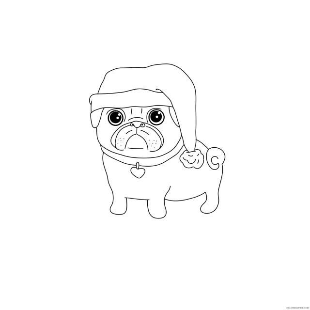 Pug Coloring Pages Animal Printable Sheets Printable Pug 29 29