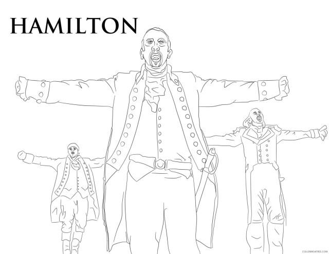 Alexander Hamilton Coloring Pages Printable Sheets Hamilton Book