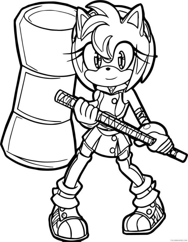 Amy Sonic Coloring Pages Printable Sheets Sonic Boom Sonic The