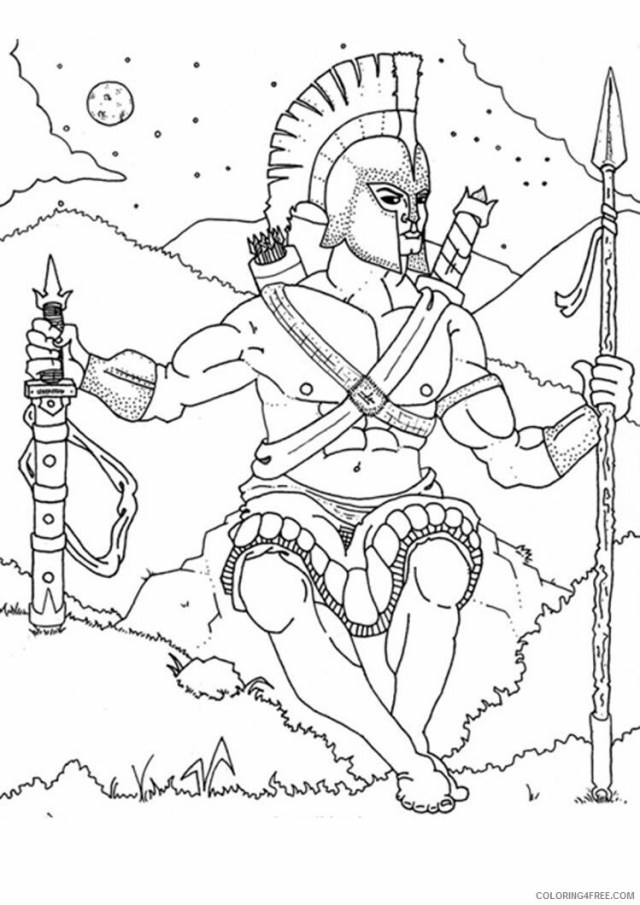 Ares Coloring Pages Printable Sheets GREEK GODS GOD 23 a 23