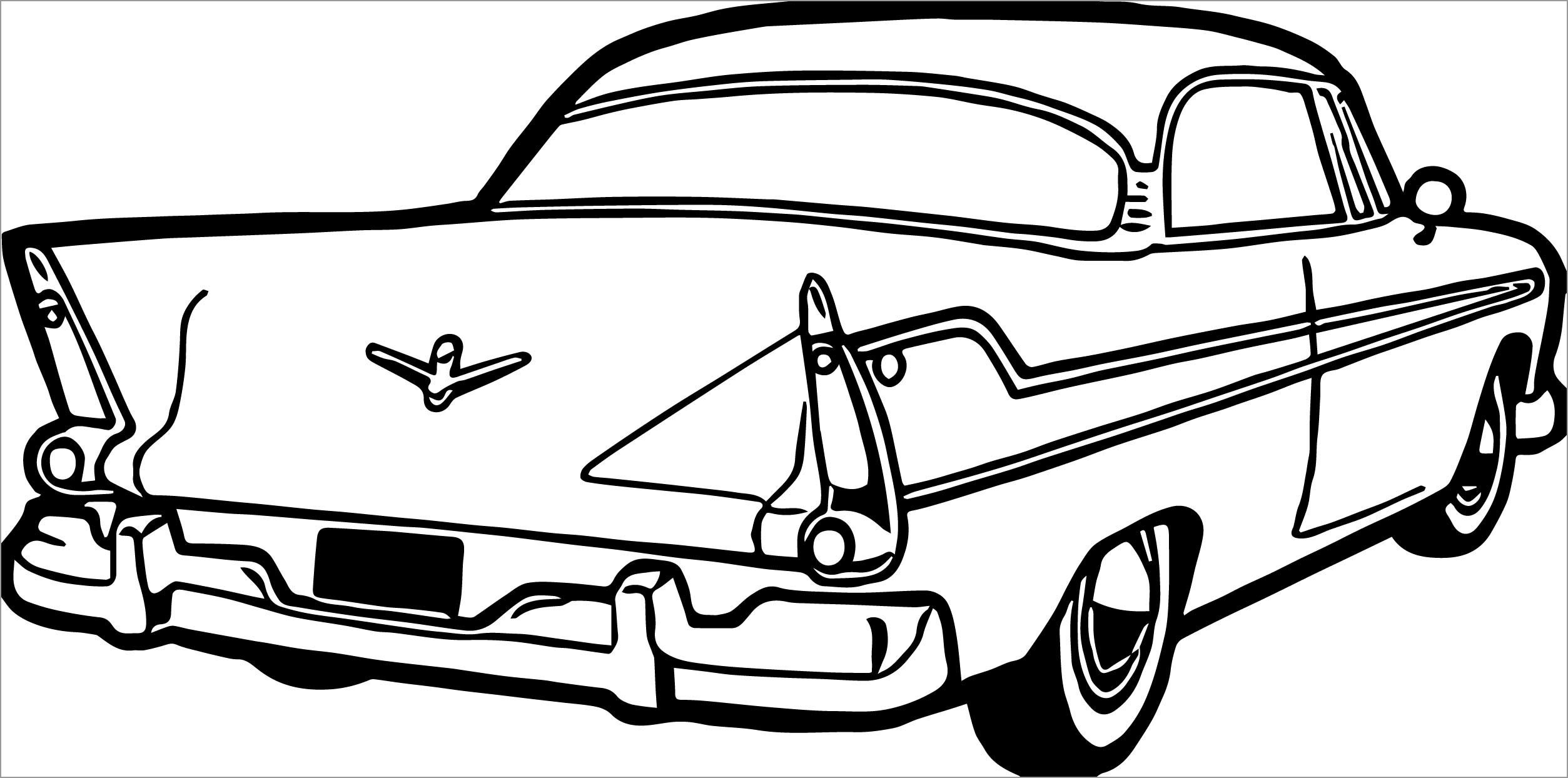 33 Old Car Coloring Pages