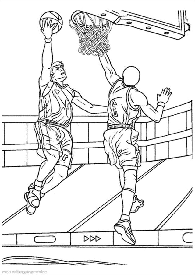 Basketball Coloring Pages to Print - ColoringBay