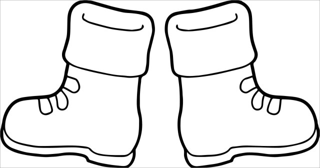 Cute Boots Coloring Page - ColoringBay