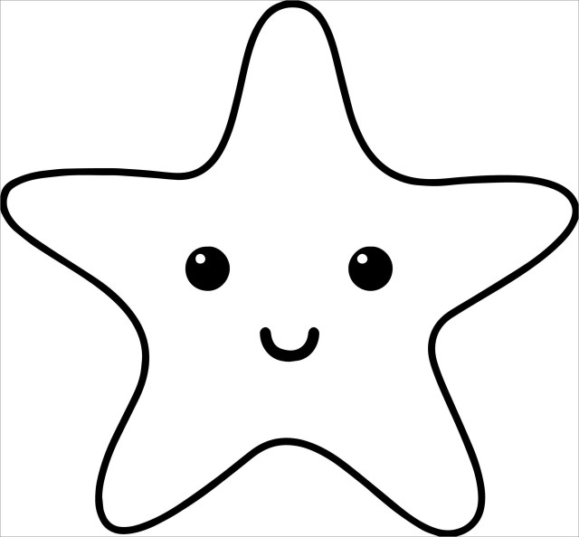 Cute Starfish Coloring Page for Kids - ColoringBay