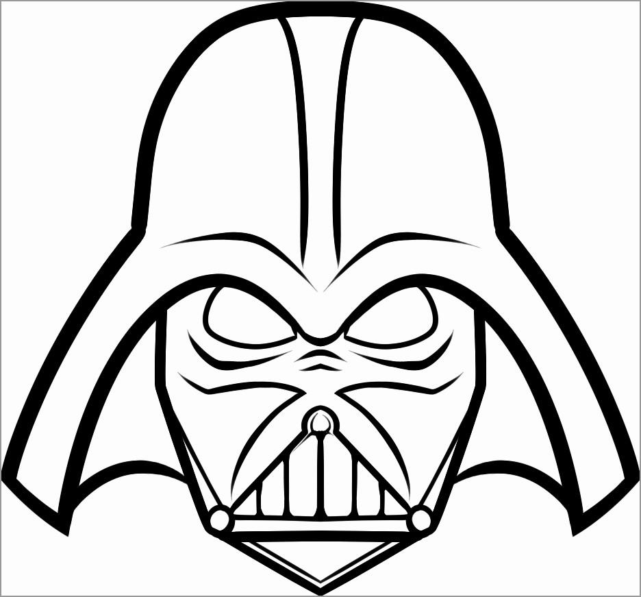 Darth Vader Head Face Coloring Page Coloringbay