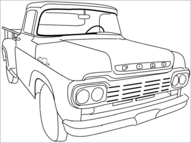 Ford Classic Car Coloring Pages - ColoringBay