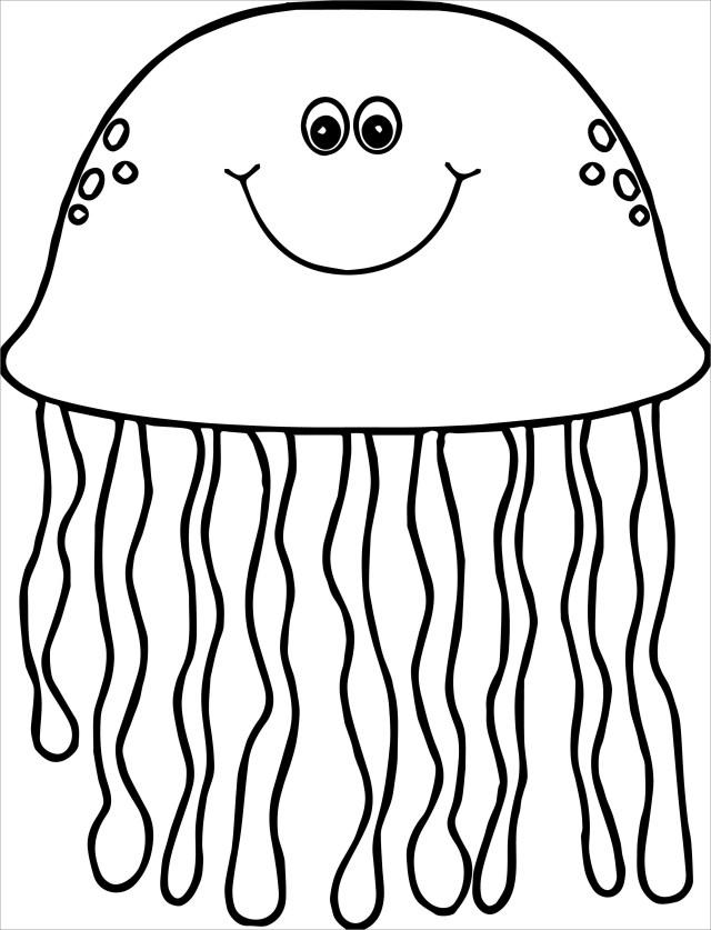 Jellyfish Coloring Page Printable - ColoringBay