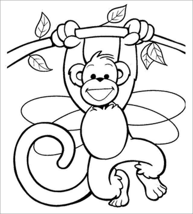 Monkey Coloring Pages to Print - ColoringBay