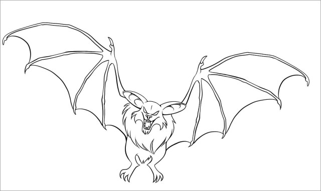 Printable Bat Coloring Pages for Kids - ColoringBay
