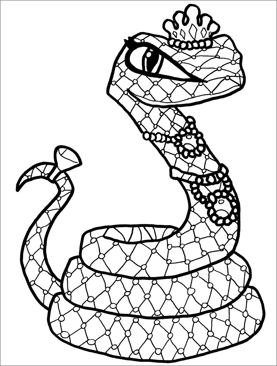 Queen Snake Coloring Page Coloringbay