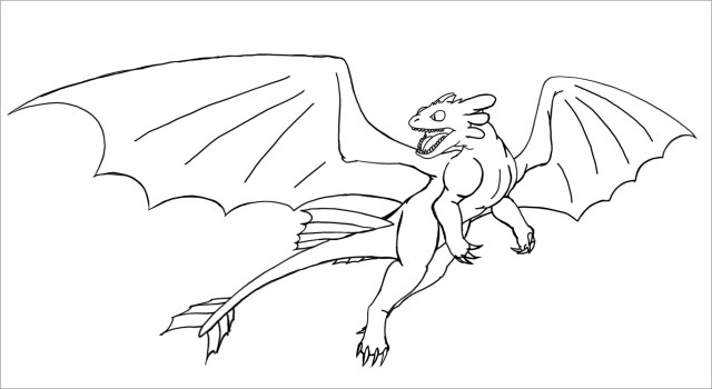 Toothless How to Train Your Dragon Coloring Page - ColoringBay