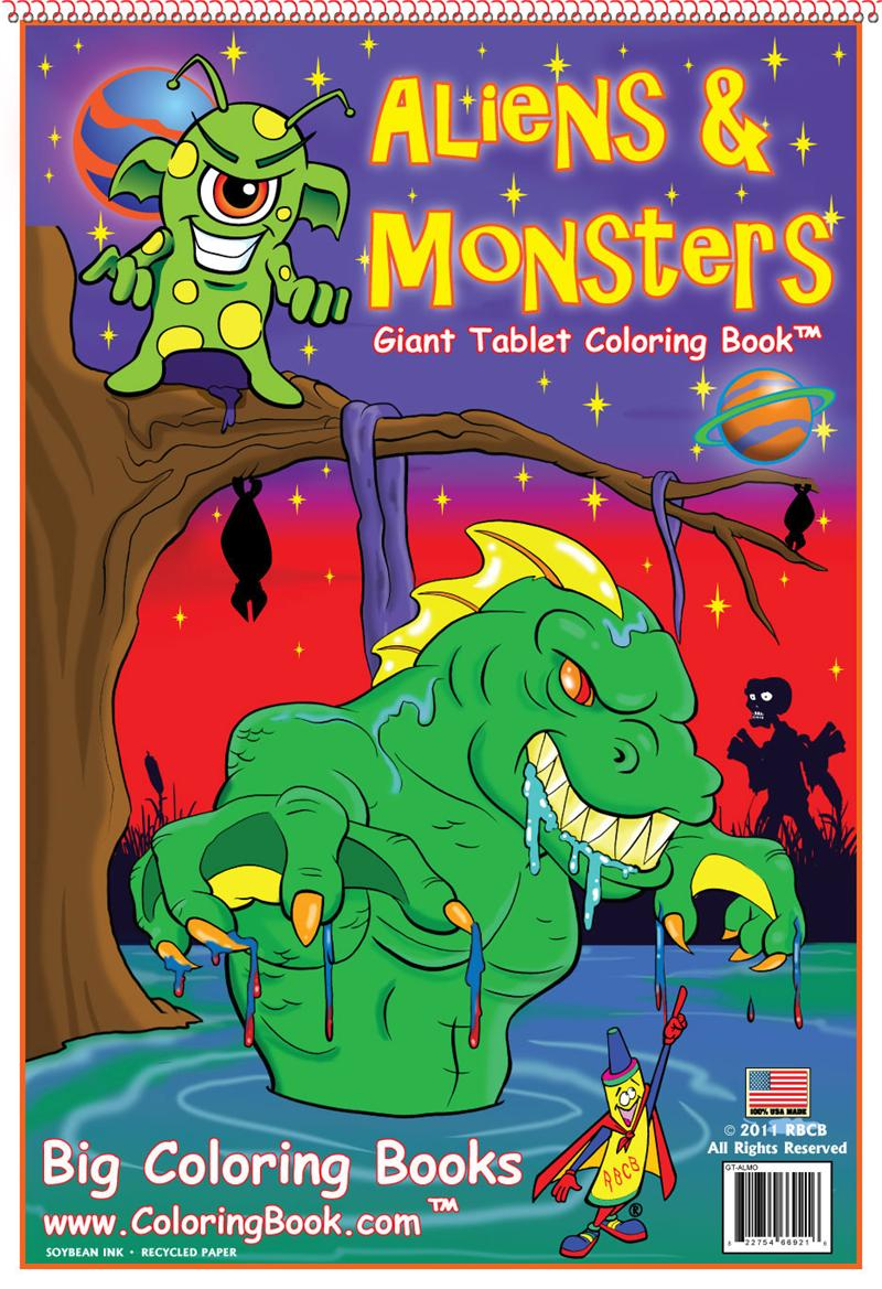 Coloring Books Aliens Amp Monsters Giant Tablet