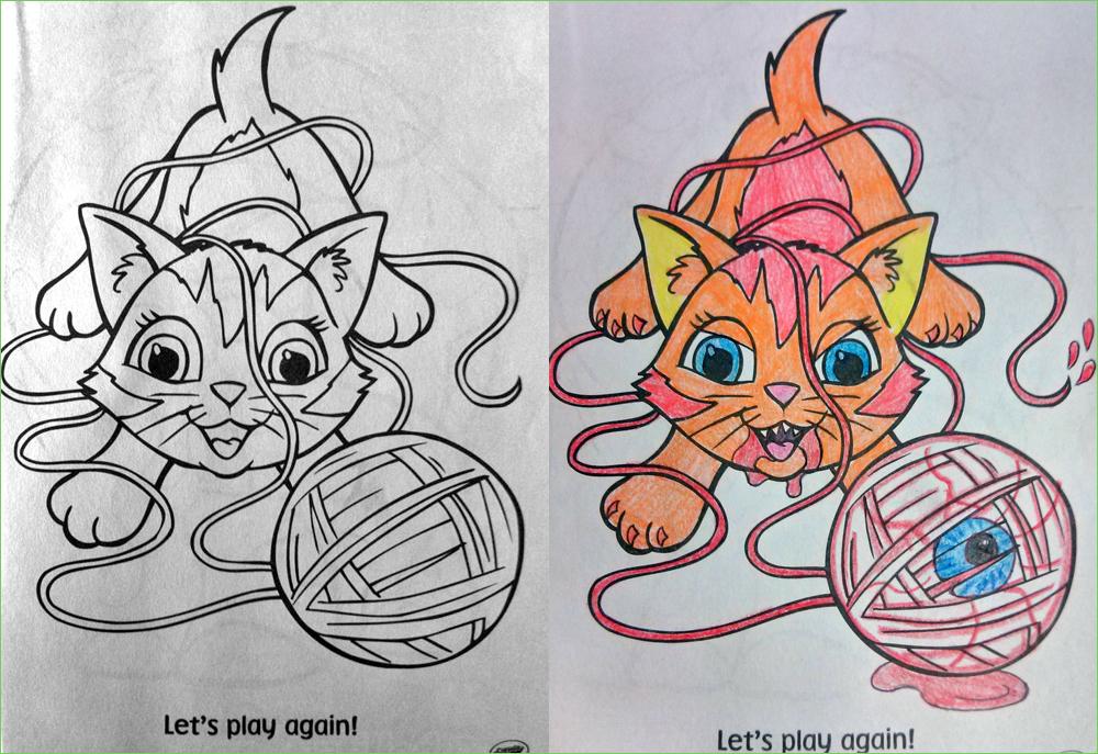Yarn Coloring Book Corruptions