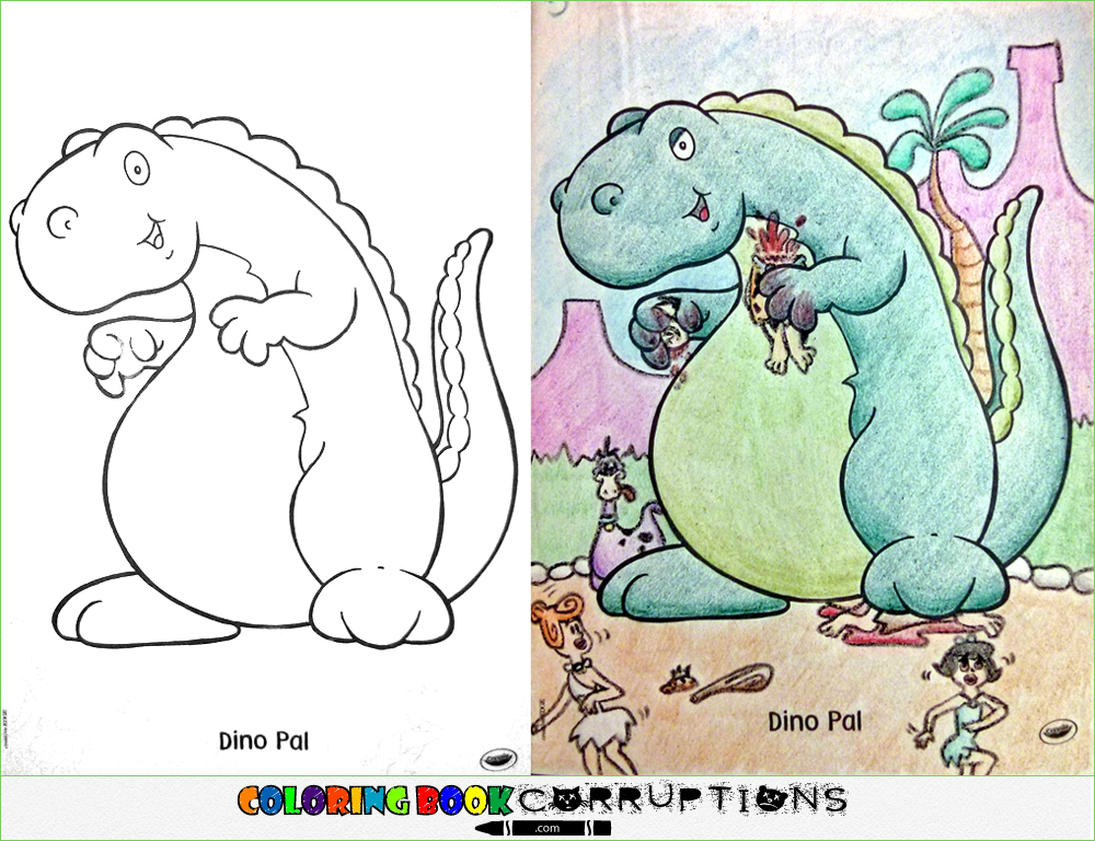 Dino pal coloring book corruptions Coloring book corruptions