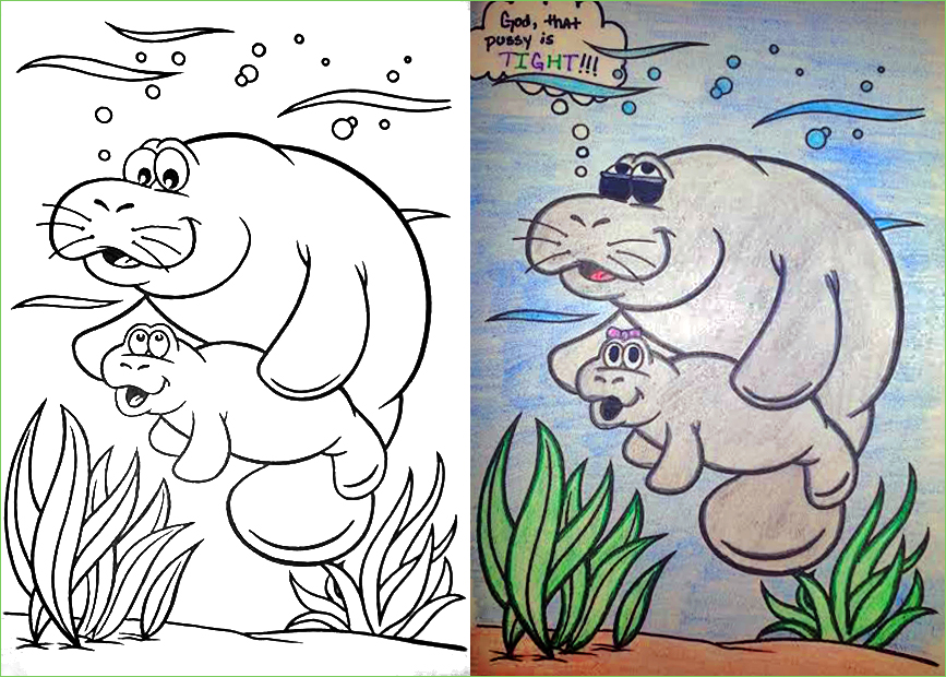 Guest Post Manatee Coloring