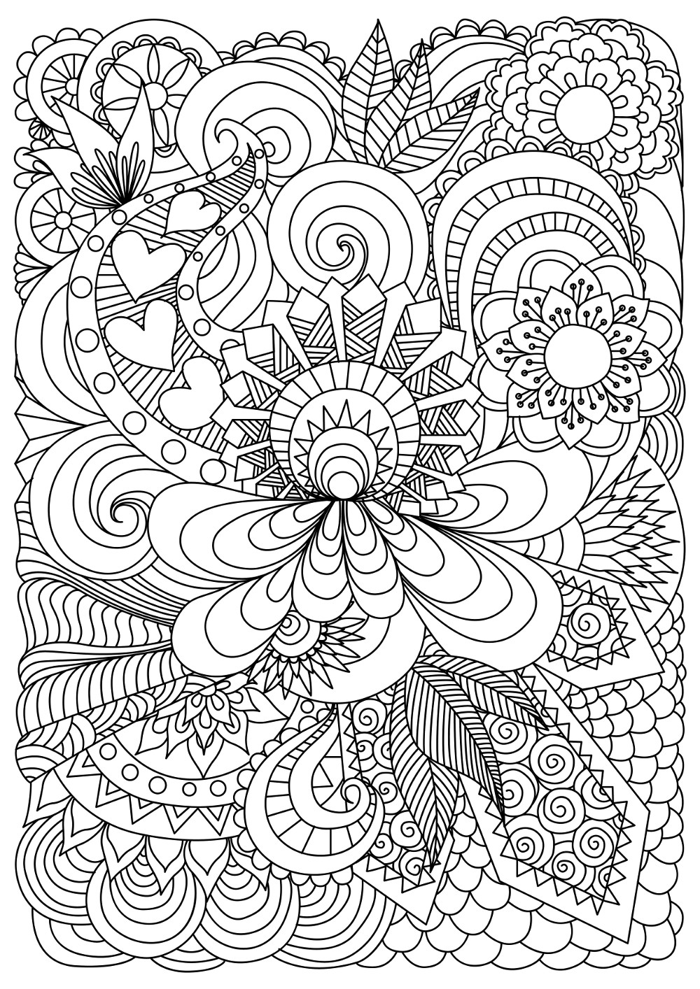 37 Best Adults Coloring Pages - Updated 2018   coloring pages for adults cool