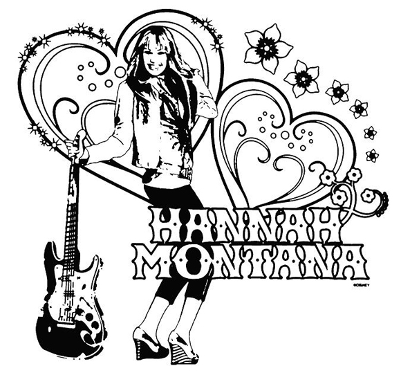 hannah montana coloring pages # 10