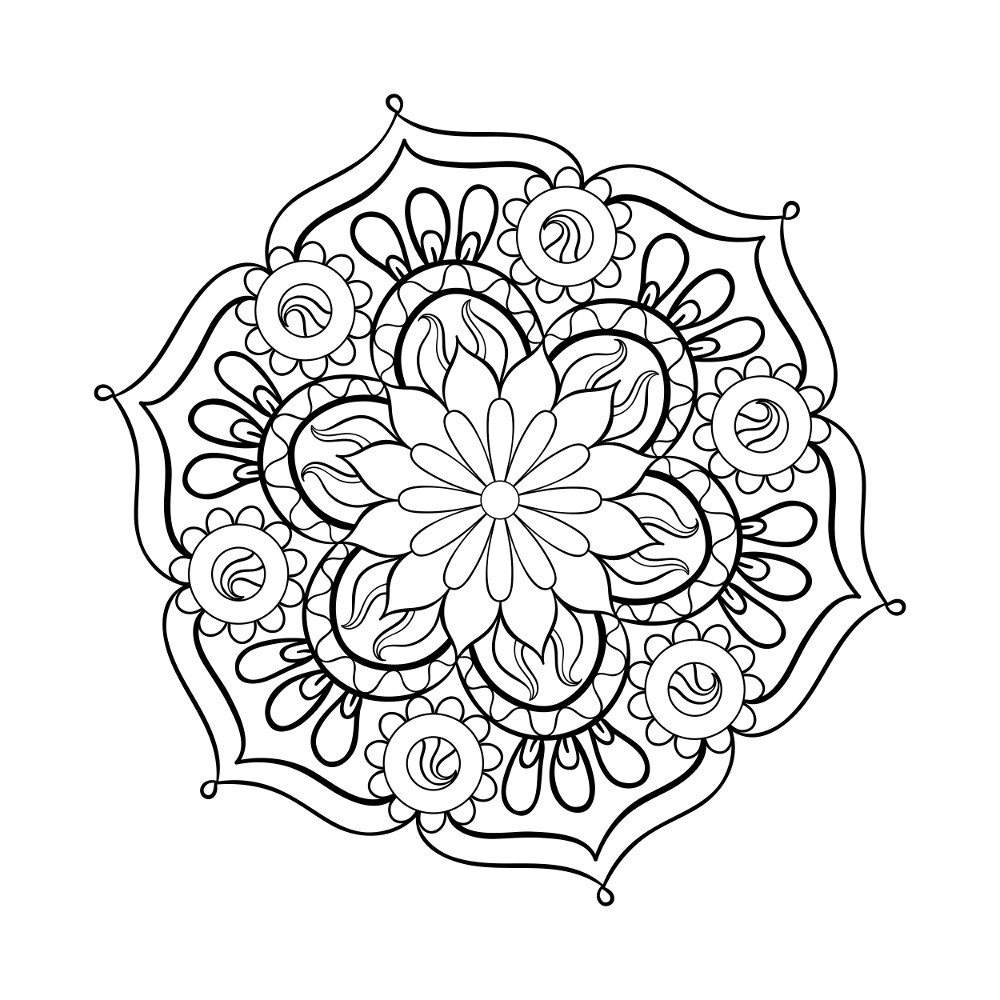 37 Best Adults Coloring Pages - Updated 2018 | free printable mandala coloring pages for adults easy