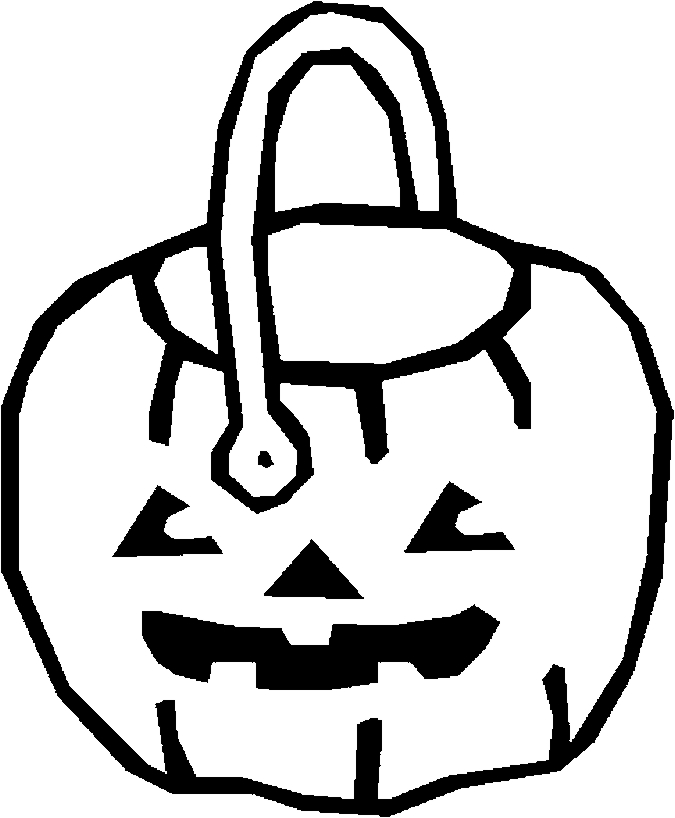24 best halloween trick or treating coloring pages for