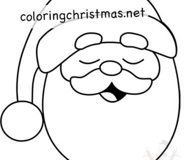 Happy Santa Claus Coloring Page Coloring Christmas
