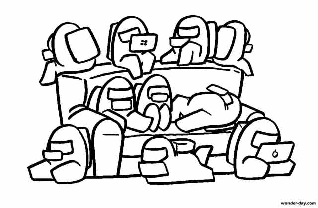 Among Us Coloring Pages - Coloring Home