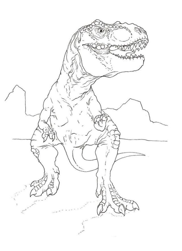 26 Pics Of Jurassic Park Tyrannosaurus Rex Coloring Pages