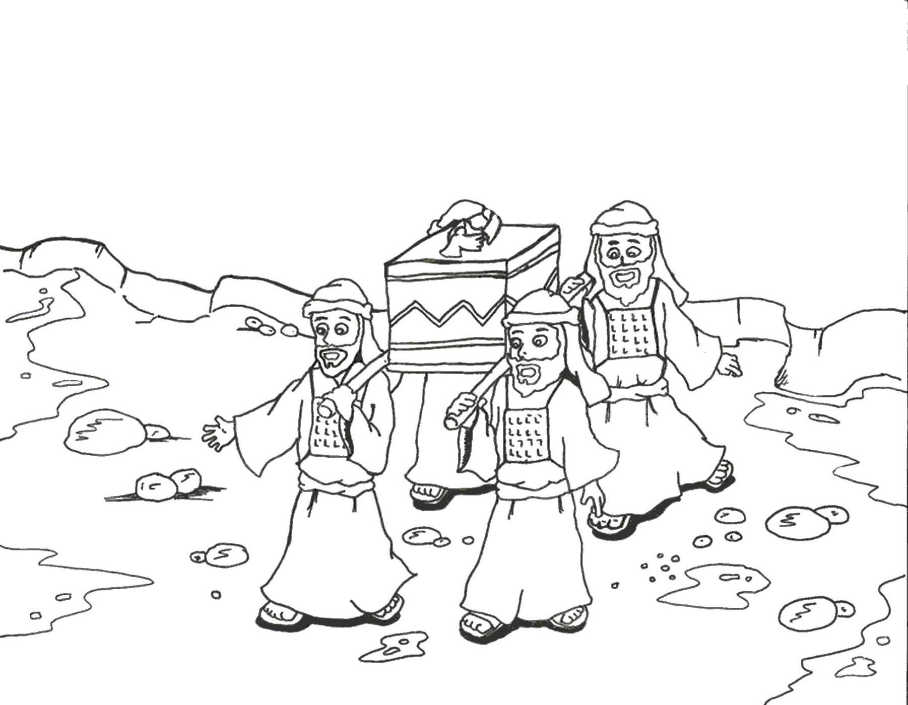 Coloring Page Of Israelites Crossing The Jordan River