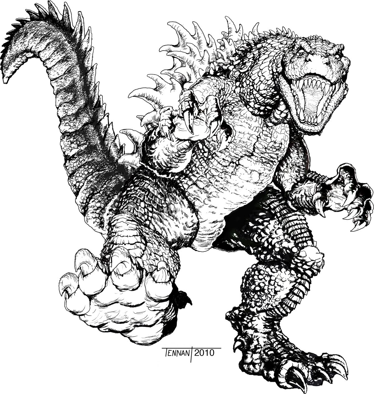 Coloring Pages Of Godzilla Coloring Home