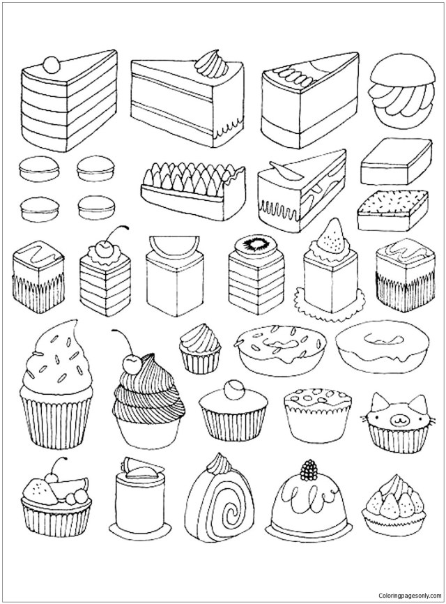 Deserts Coloring Pages - Coloring Home