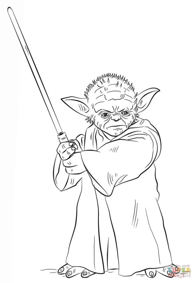 Yoda Printable Coloring Pages - Coloring Home