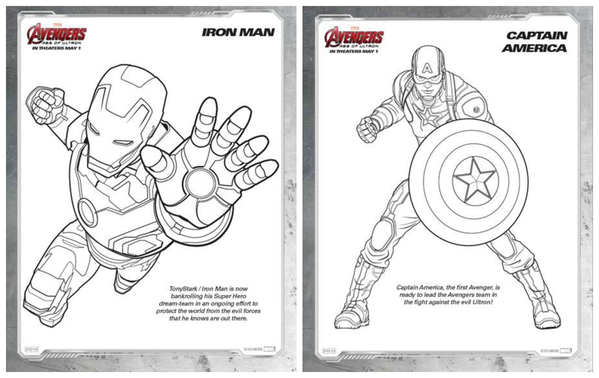 Marvel S Avengers Age Of Ultron Coloring Sheets