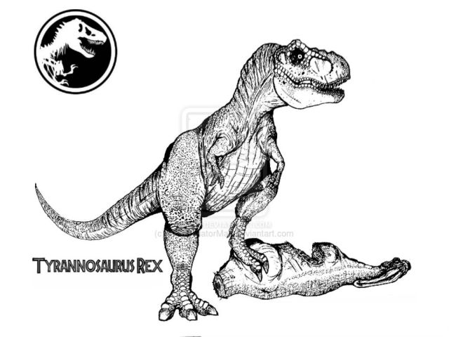 26 Pics Of Jurassic World T-Rex Coloring Pages - World Jurassic