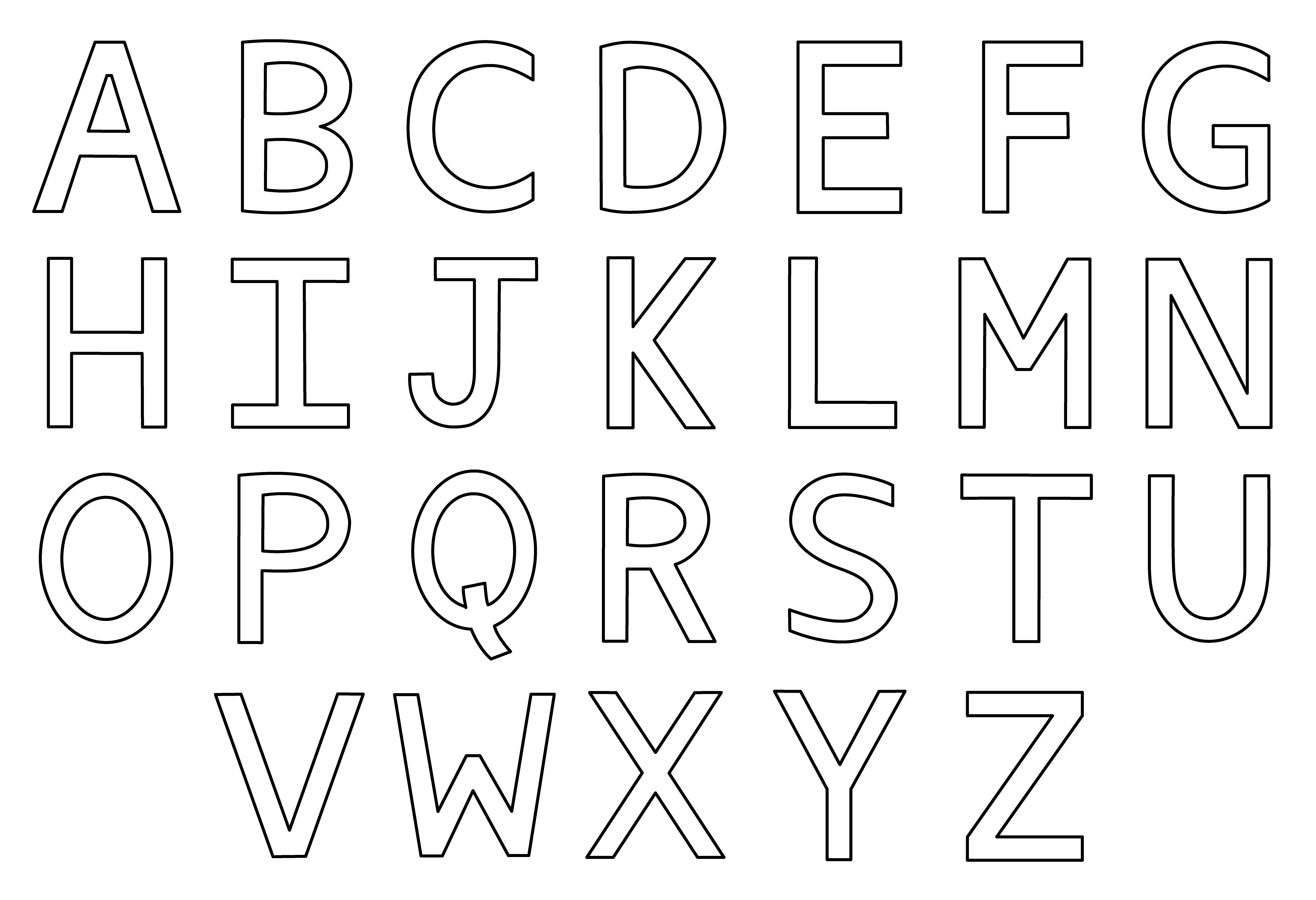 Whole Alphabet Coloring Pages Free Printable