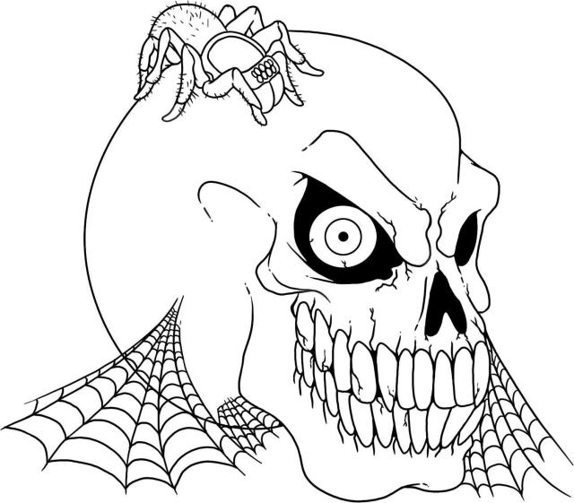 Scary Cartoon Coloring Page - Coloring Home