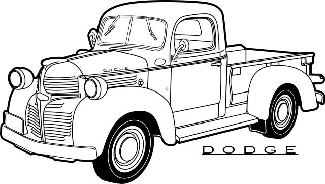 Old Trucks Coloring Pages - Coloring Home