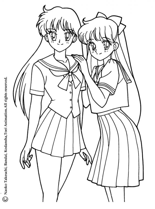 Manga Coloring Page Coloring Home