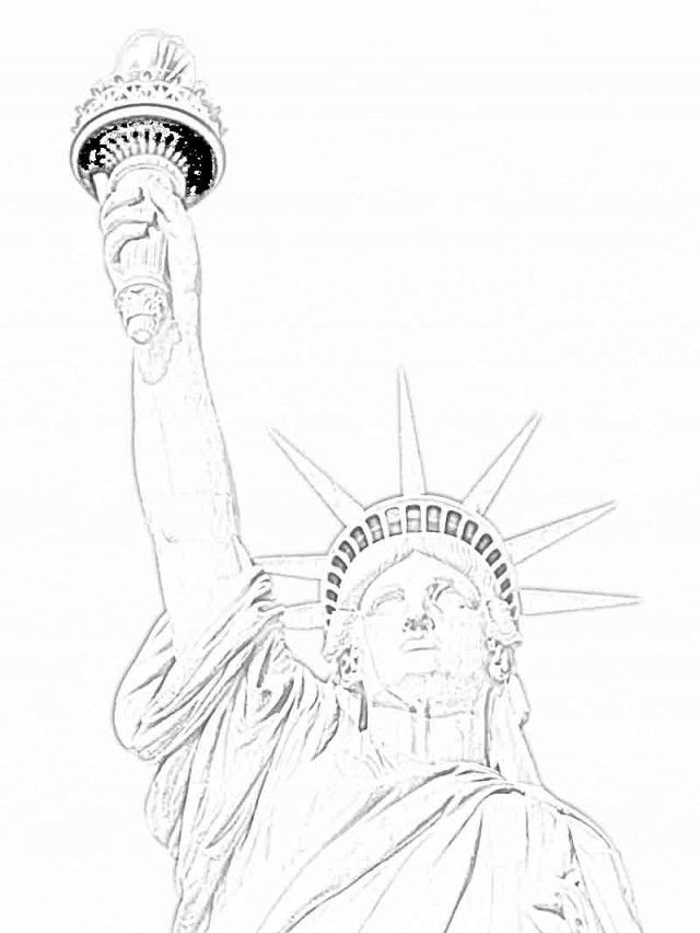 Statue Of Liberty Coloring Sheet Coloring Home