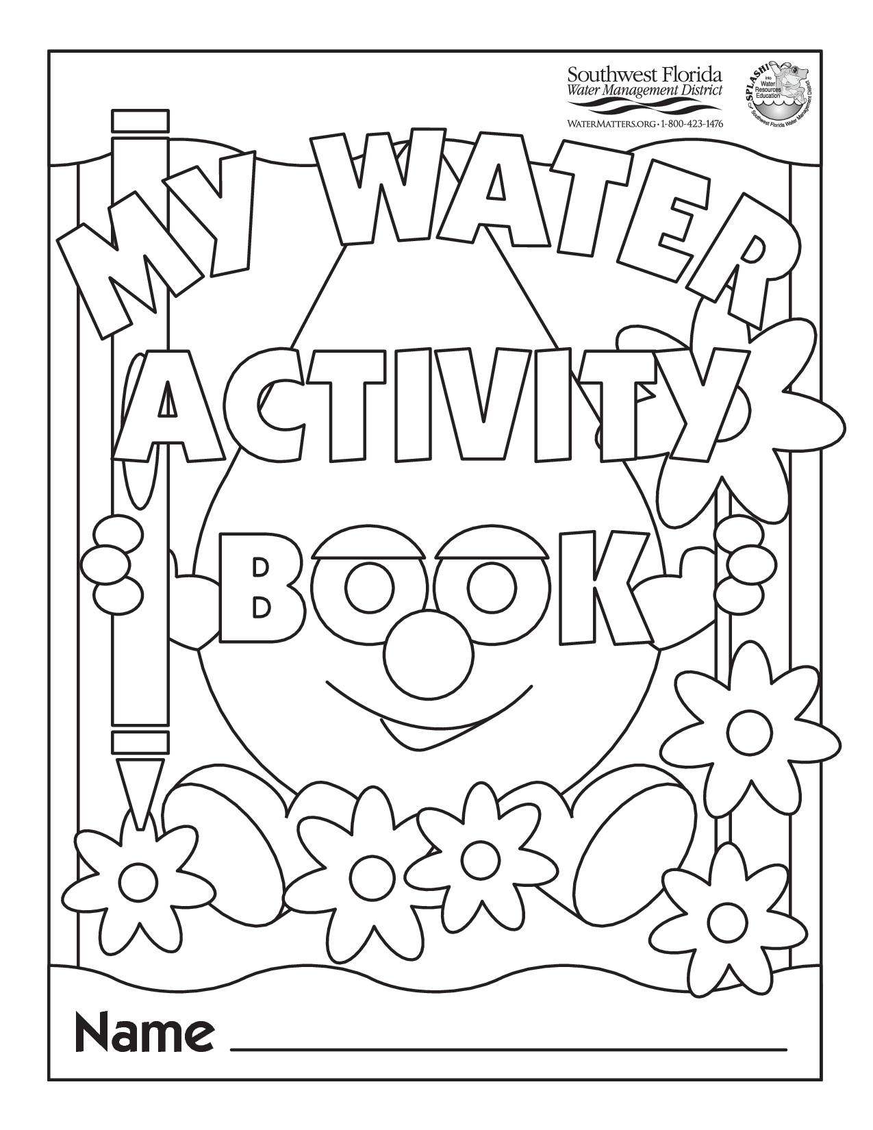 Water Conservation For Kids Coloring Pages
