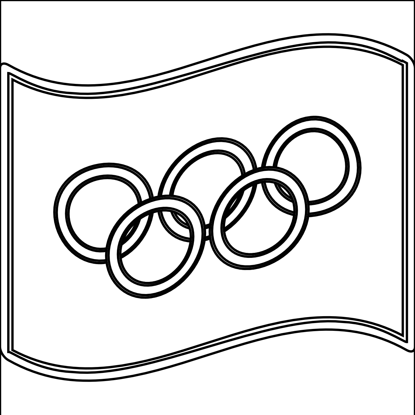 Winter Olympics Flags Coloring Pages Free