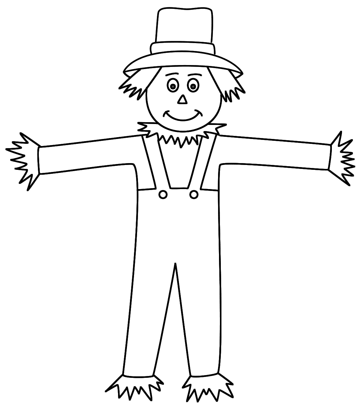 Scarecrow Coloring Pages For Preschoolers