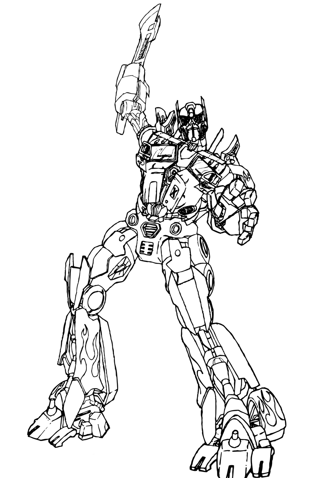 knight coloring pages optimus prime