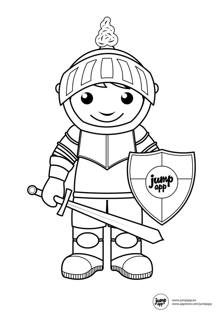 Knight Coloring Pictures Coloring Home