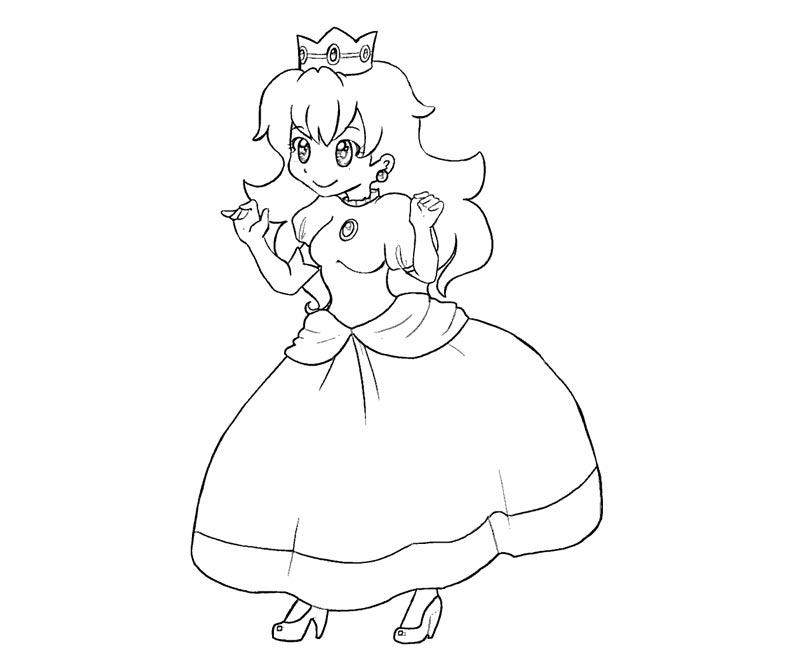 coloring pages of princess peach and daisy  coloring home