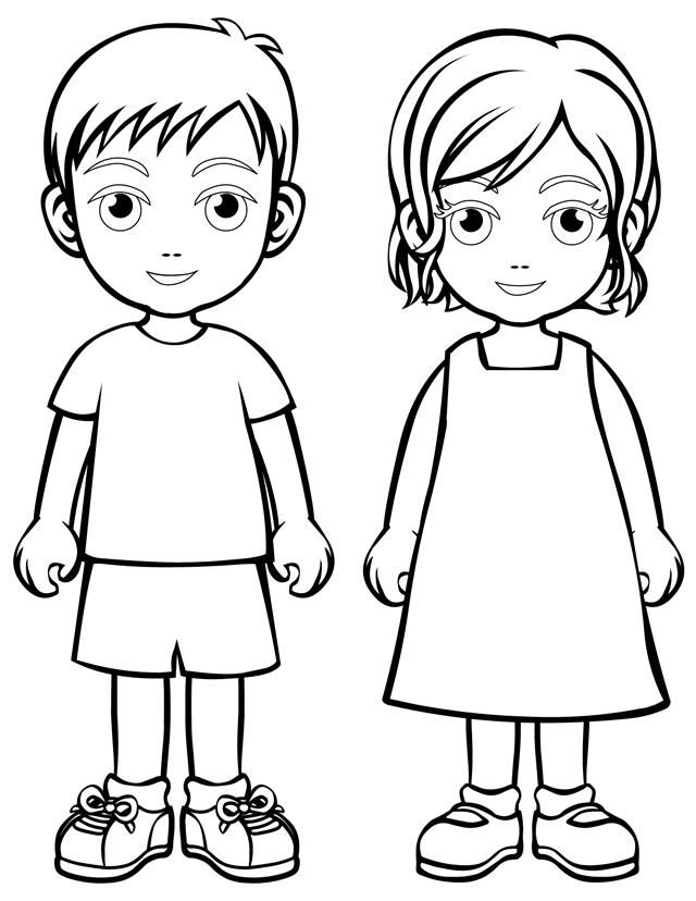 Coloring Sheets Of People Coloring Home