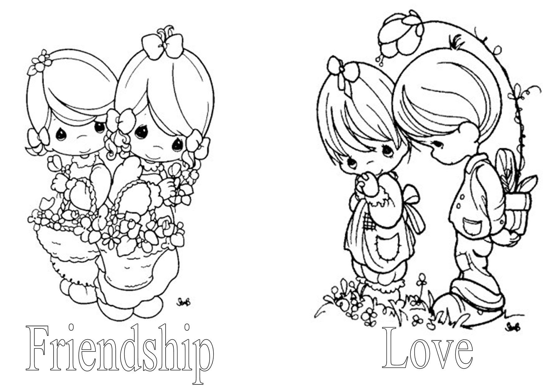 Precious Moments Free Coloring Pages