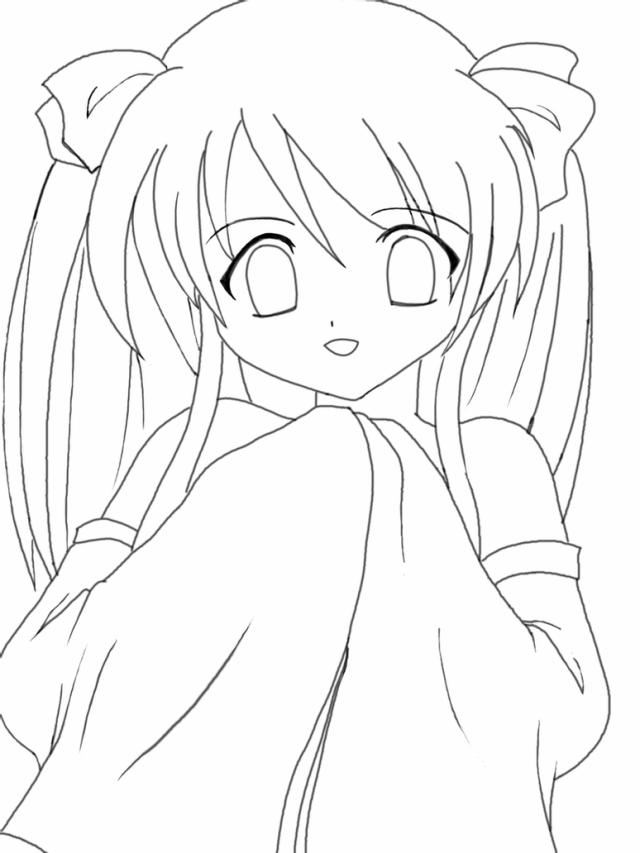 Manga Themes: Anime Kawaii Coloring Pages - Coloring Home
