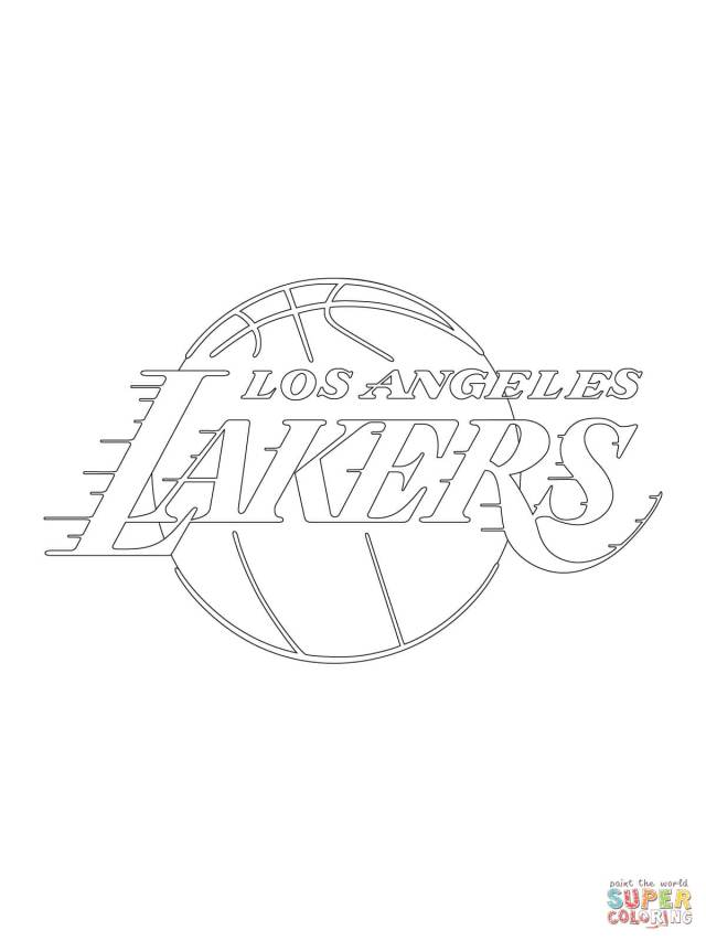 Lakers Coloring Page - Coloring Home